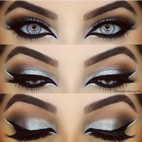 Dramatic makeup. Perfect  /Maquiagem dramática. Perfeita by  @carolinebeautyinc @carolinebeautyinc #maquiagemluxo_oficial #makeupartist #perfetc #top #iloved #magnificent #pretty #beautiful #fantasticmakeup #dramatic #beauty #gorgeous #niveasuzzy #carolinebeautyinc