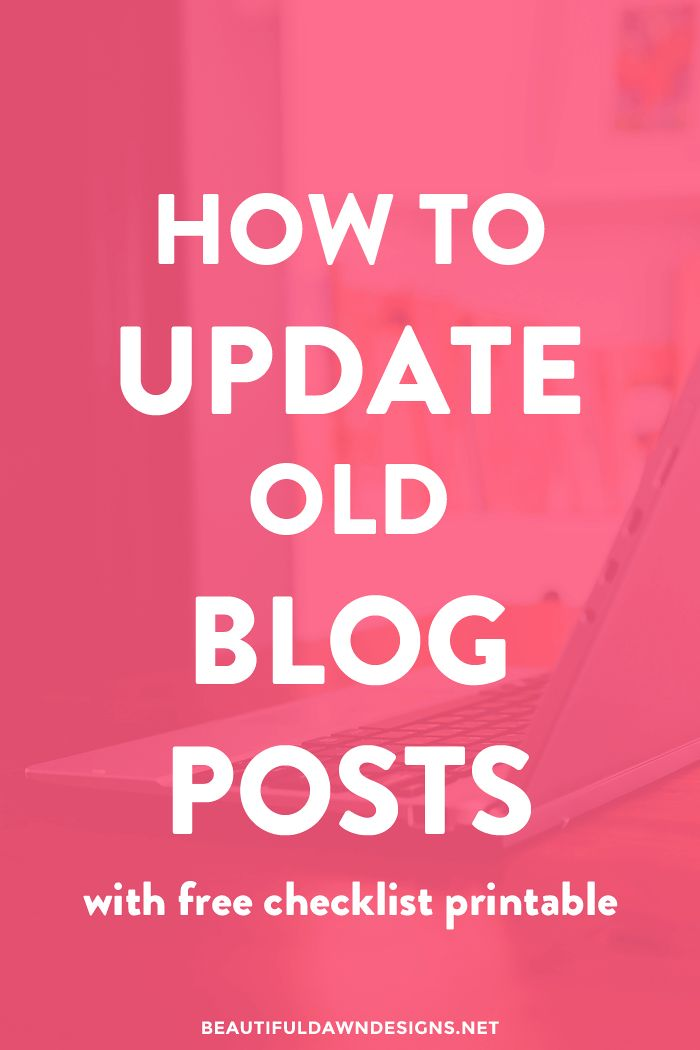 When visitors land on your old blog posts, you want to make sure your content is up to date, relevant, and in line with the style of your newer content. In this post, I'll go over the things you can do to update blog posts.