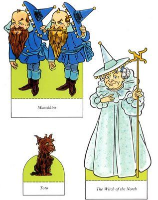 The Paper Collector: Wizard of Oz paper dolls by Ted Menten, Munchkins, Toto, Witch of the North, Funky Paperdolls, Printable Paper Doll Patterns, Paper Dolls, Paper, Kids Activities Printables, Cool teen crafts