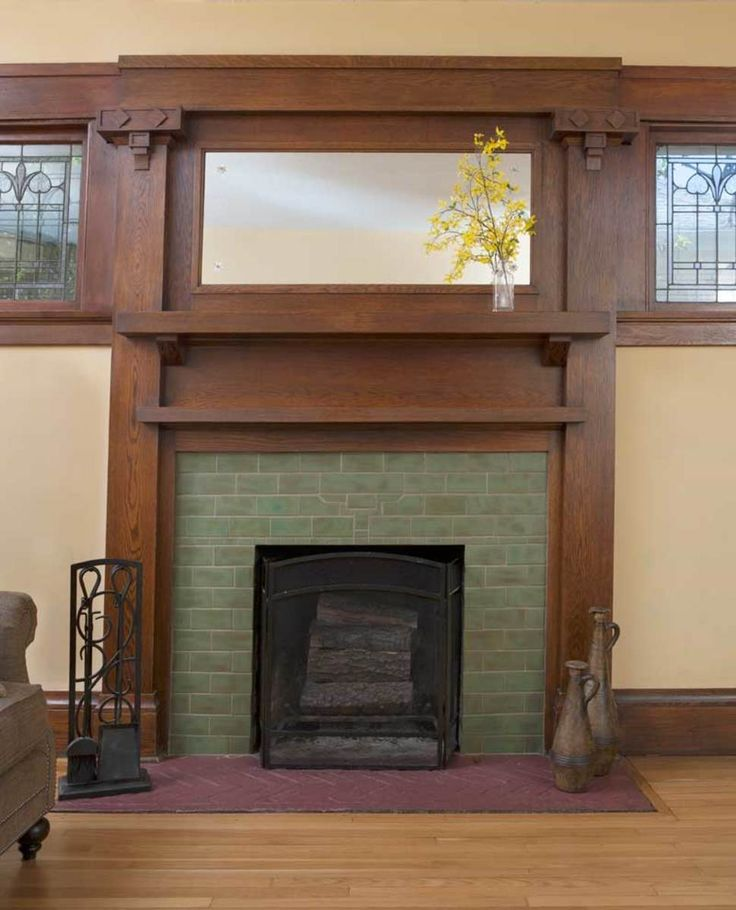 25 best ideas about craftsman fireplace on pinterest for Craftsman gas fireplace