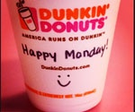 Will Instagram become a more effective marketing tool than Facebook? More Instagram tips at http://getonthemap.us/instagram/blog/: Happy Mondays, Dunkin' Donuts, Coffee Cups, Donuts Coffee, Coff Cups, Coffee Quotes, Custom Cups, 24 Signs, Cups Of Coffee