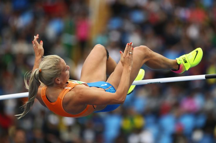 Nadine Broersen of the Netherlands competes in the Women's Heptathlon High Jump on Day 7 of the Rio 2016 Olympic Games at the Olympic Stadium on August 12, 2016 in Rio de Janeiro, Brazil.