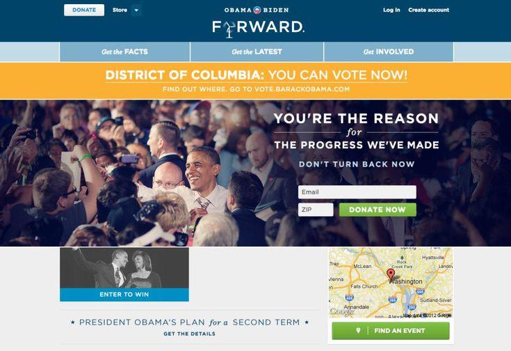Obama añadió en su página web toda la información referente a su presencia en las redes sociales, incluyéndolas de lleno en su campaña