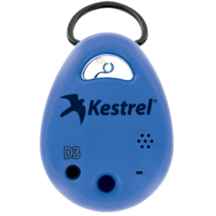Kestrel DROP D3 Environmental Data Logger - Blue. DROP D3 Smart Environmental Data Logger - BlueLog it. View it. Share it.  Know Your Conditions.Functions: Temperature Humidity  Heat Index Dew Point Temperature Wet bulb temperature Density altitude Barometric pressure Moisture content Humidity ratio Relative air density Absolute pressure Kestrel DROPs are small, rugged, and accurate environmental data loggers. The Kestrel Drop D3 targets many markets including Transportation, Agriculture...