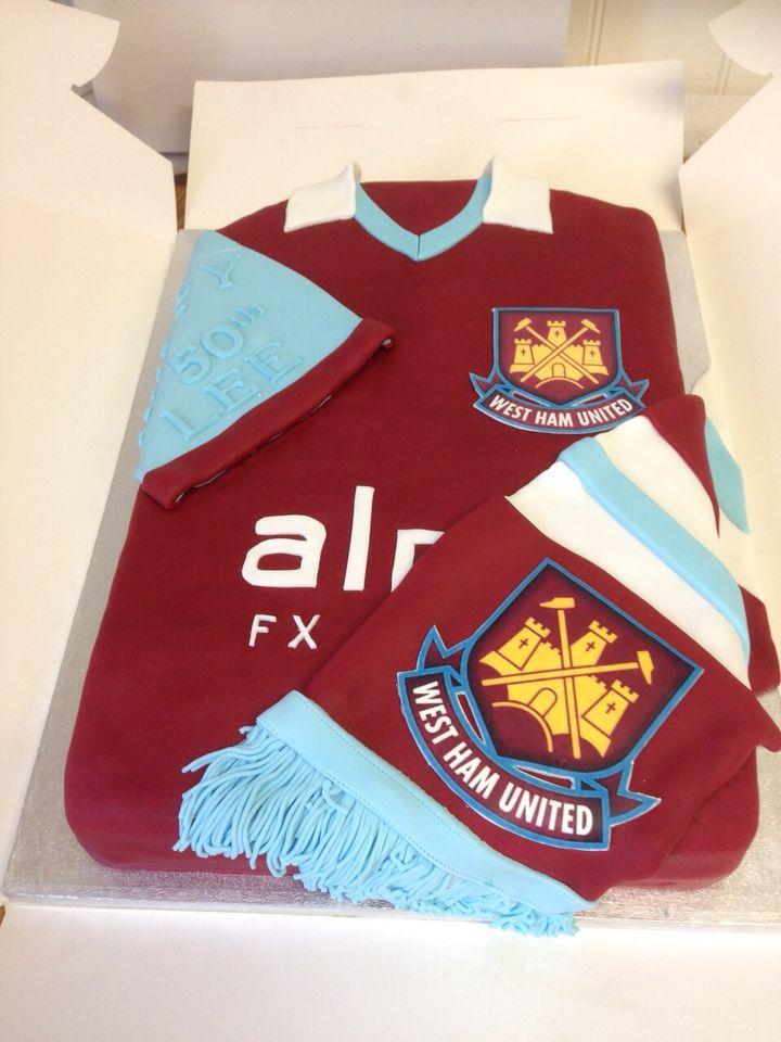 West ham united football shirt cake