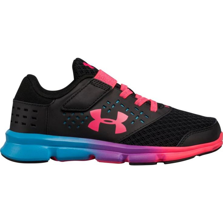 Under Armour Kids' Preschool GPS Rave RN AC Prism Running Shoes, Girl's, Black