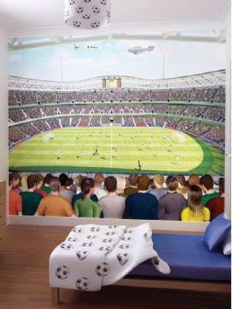 86 best SOCCER BEDROOM images on Pinterest   Football bedroom ...
