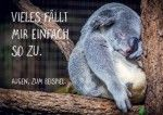 Postkarte A6 +++ LUSTIG +++ VIELES FÄLLT MIR EINFACH SO ZU