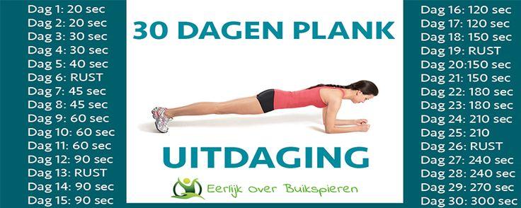30 Dagen Plank Uitdaging!