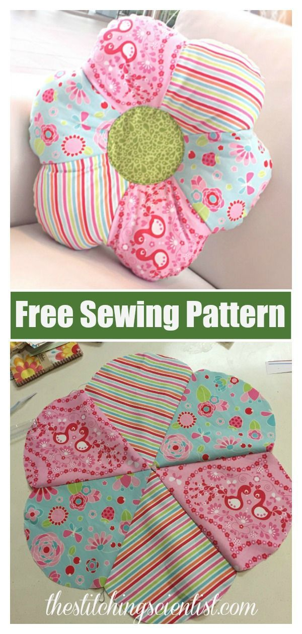 Flower Shaped Pillow Free Sewing Pattern Freesewingpattern
