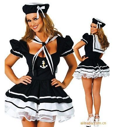 sexy navy costume small or large order early!!