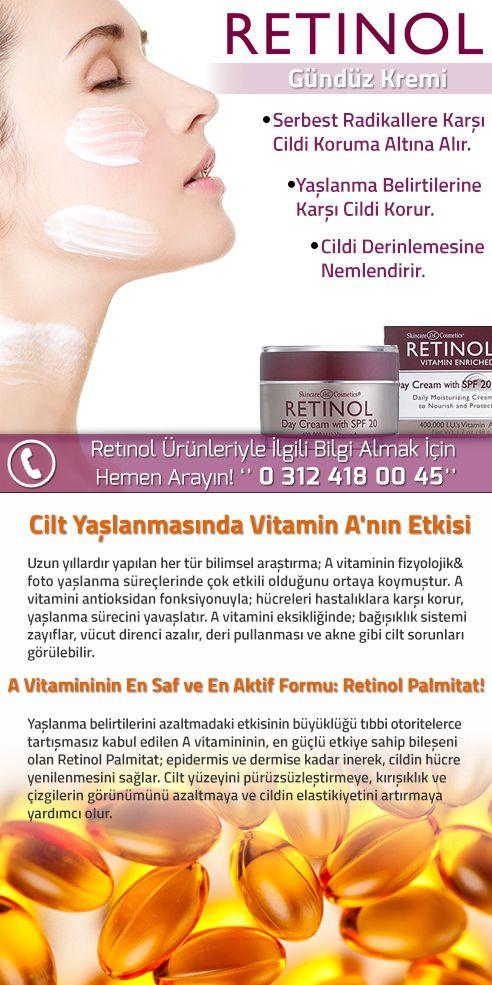 Retinol Day Cream With SPF 20 Yaşlanma Karşıtı Nemlendirici Gündüz Kremi http://www.narecza.com/Retinol-Day-Cream-With-SPF-20-Yaslanma-Karsiti-Nemlendirici-Gunduz-Kremi,PR-16742.html