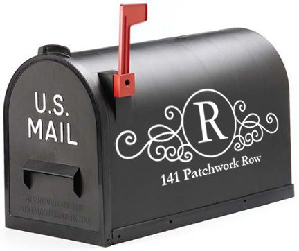 Mailbox Monogram Decal Set of 2 | underthecarolinamoon.com