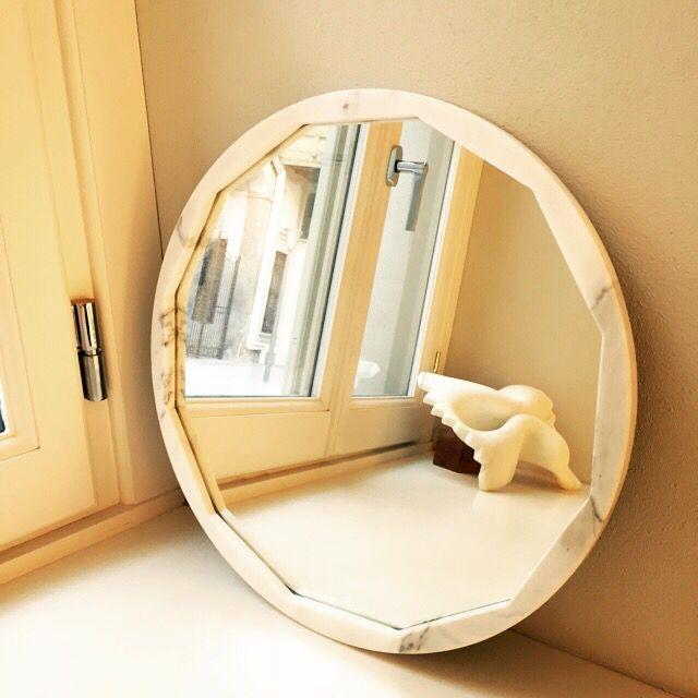 #hexa #mirror #carraradesignfactory #calacatta #marble