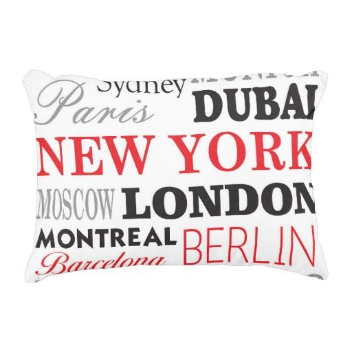 cities of the world - coussin rectangulaire coussin déco