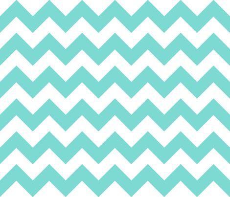 Chevrons Aqua and White fabric by juliesfabrics on Spoonflower - custom fabric