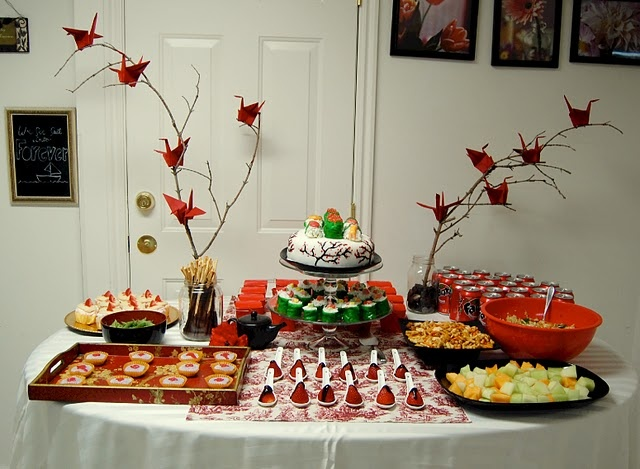 japanese birthday party table