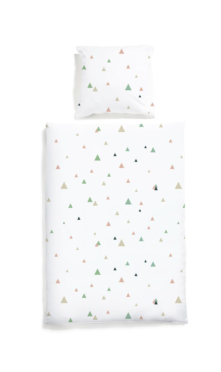 Triangles bed linen - White pocket