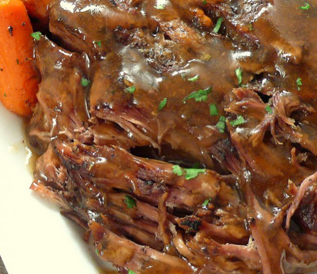 SLOW COOKER POT ROAST THAT WILL MELT IN YOU'RE MOUTH