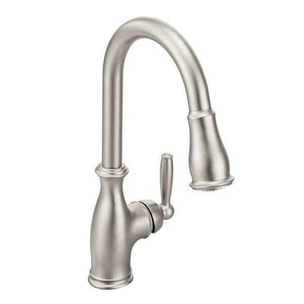 Brantford Spot resist stainless one-handle high arc pulldown kitchen faucet - 7185SRS 435.60
