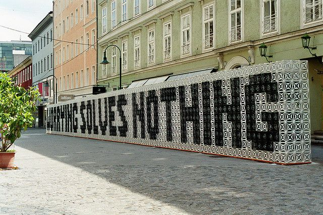 """Worrying Solves Nothing"" - Stefan Sagmeister"