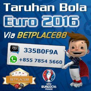 Judi bola Euro 2016 secara online dengan deposit minimal Rp 100.000 dan minimal pemasangan taruhan per pertandingan Rp 50.000 bisa anda lakukan melalui agen judi bola Betplace88.com / Betplace88.or…
