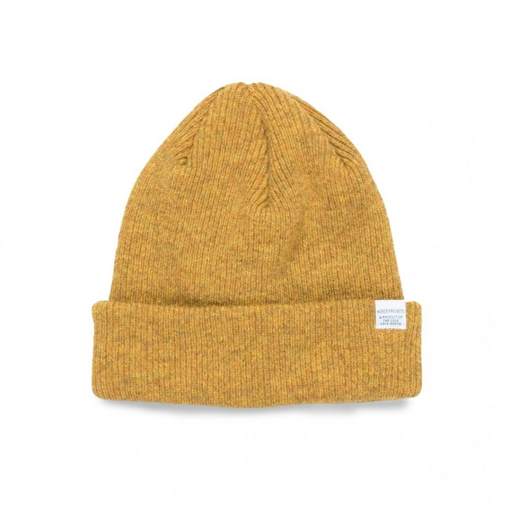 Norse Projects Norse Beanie (Mustard Yellow)