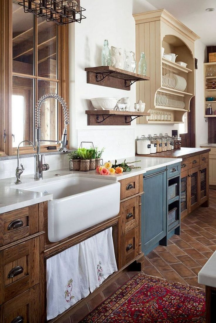 Amazing Rustic Farmhouse Style Kitchen Decorating Ideas (12)