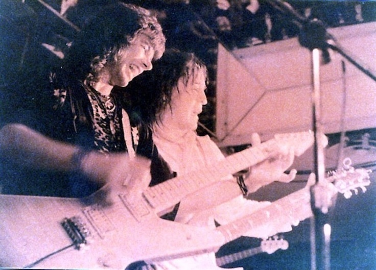 Alan Merrill and Rick Derringer on tour in Canada 1981.