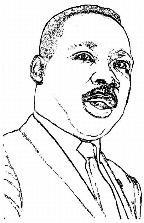 Martin Luther King Pictures Coloring Page