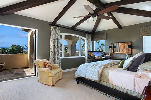 Balcony: Wall Colors, Bedrooms Theme, Big Window, Spaces, Four-Post, The View, Master Bedrooms, Master Suits, Awesome Rooms