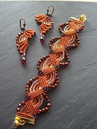 lovely macramé earrings and bracelet set