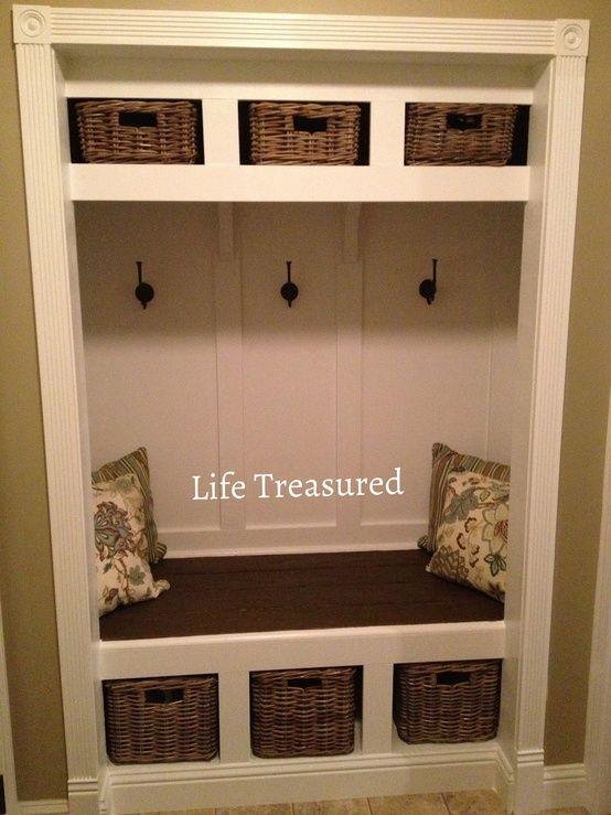 transform closet into mudroom | turn closet into a mudroom @ DIY Home