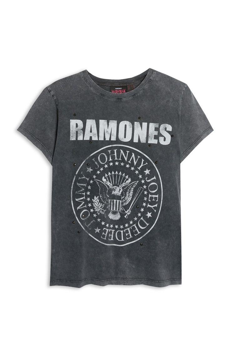 T-shirt Ramones met studs