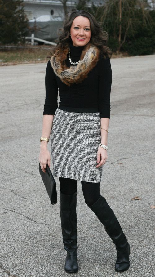 how to style over the knee boots for work