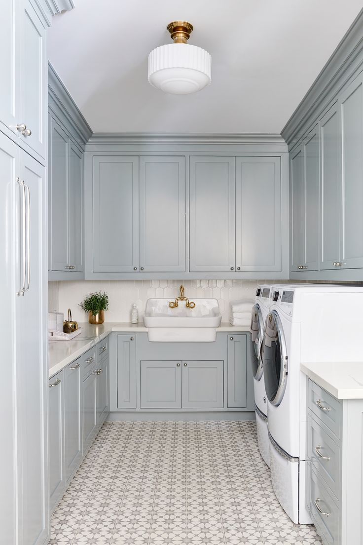 blue laundry room design by phoenix interior designer lexi on paint for laundry room floor ideas images id=90244