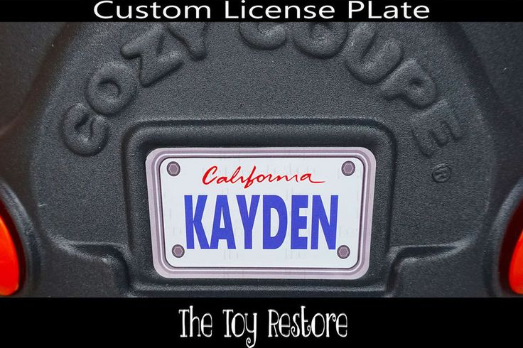 Replacement Decals fits Little Tikes Cozy Coupe #California Custom Number Plate #TheToyRestore #TheToyRestore #LittleTikes #CozyCoupe #LicensePlate #NumberPlate #Vanity #CozyCoupeRedo #CozyCoupeMod #CozyCoupeMakeover