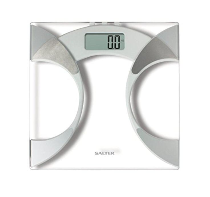 Salter 9141 Gl Body Fat Yser Home Bathroom Weighing Measuring Scale New Silver