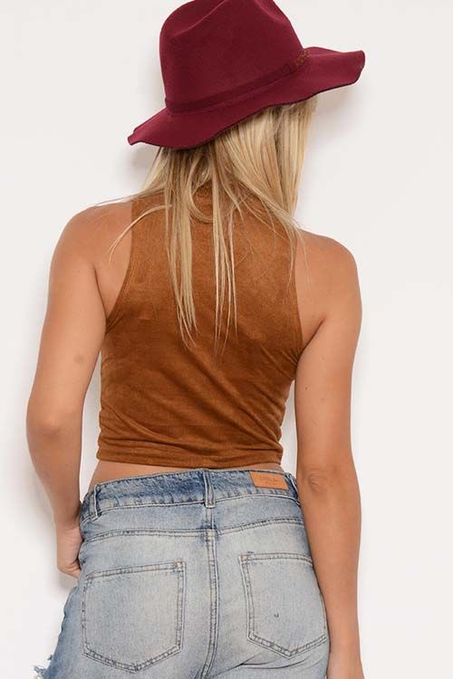 Crop Top Gamuza Liso - Mujer | Embrujo Jeans