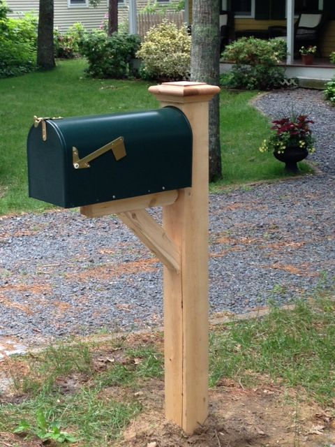 1000 ideas about wooden mailbox on pinterest mail boxes for Unique mailboxes with post