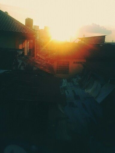 The sun goes down at my place.