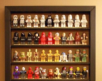 Lego mini-figure display by TheLittleManCave on Etsy