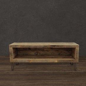 Reclaimed Wood Media Console/ Entertainment Stand custom made by Jw Atlas Wood Co.