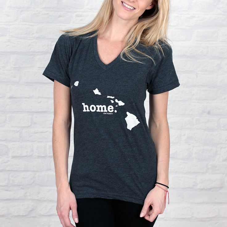 The Hawaii Home V-Neck is insanely soft, a great way to show off your state pride, and helps to raise money for multiple sclerosis research.The Home T products are 100% Made in the USA. We use a special screen printing technique to give the shirts a vintage look and feel.The Hawaii Home V-Neck is a super high-quality unisex shirt that can easily be dressed up or down.
