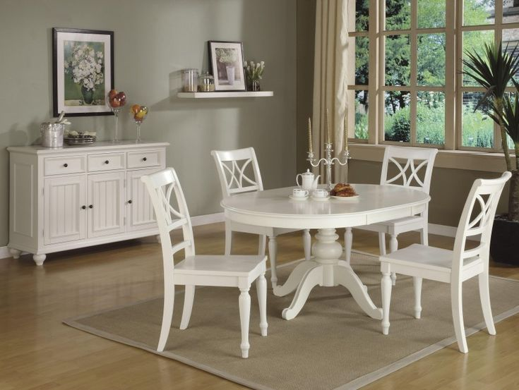 Round-white Kitchen Table Sets