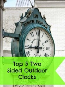 1000 Images About Best Two Sided Outdoor Clocks On
