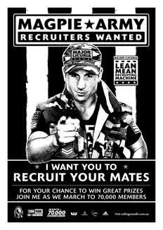 Collingwood Football Club Membership recruitment campaign poster