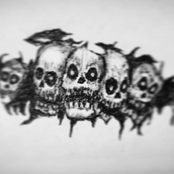 Just a part of the background that I've been working right now~ #pensketch #sketch #Skull #monster  #concept #multicoloredpen #drawing #draw #illustration #pen #shading #shadings #shade #ink #random #wtf #creatures #monsters #original #mythical #myth #mythology #forest #dead #dark #trees #evil #unfinished #game #background