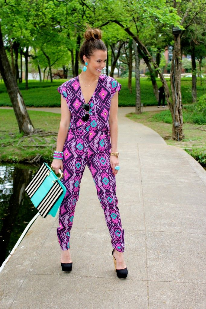 The most perfect aztec jumpsuit that has ever existed, like, ever.