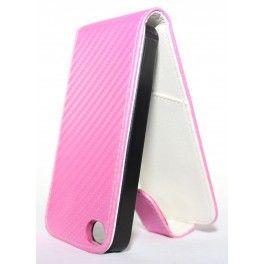 Apple iPhone 4 vaaleanpunainen läppäkotelo.